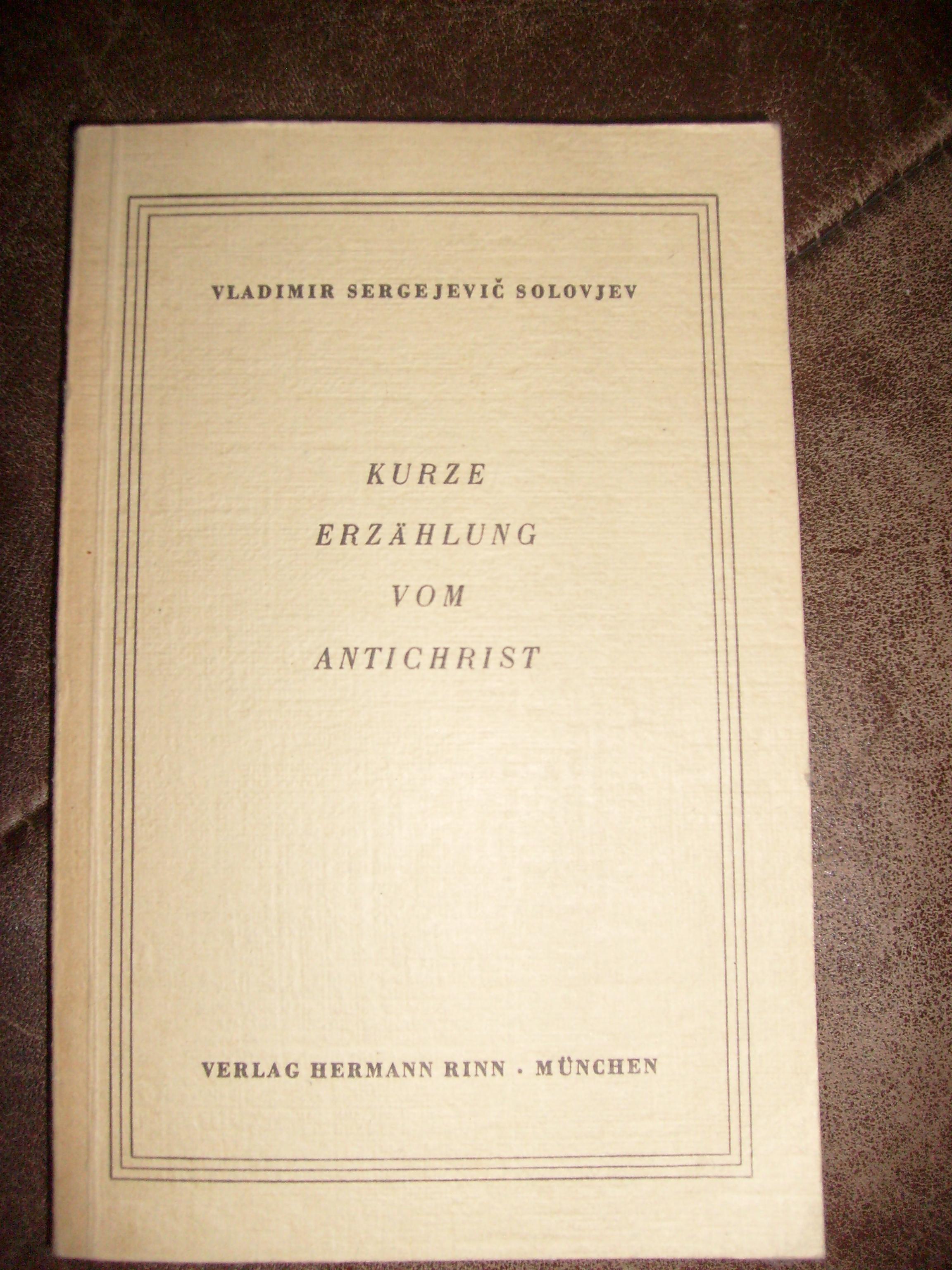 Bildtext: Kurze Erzählung vom Antichrist. von Solovjev,  Vladimir Sergejevic